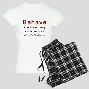 Behave Women's Light Pajamas