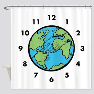 World Love In Time Shower Curtain