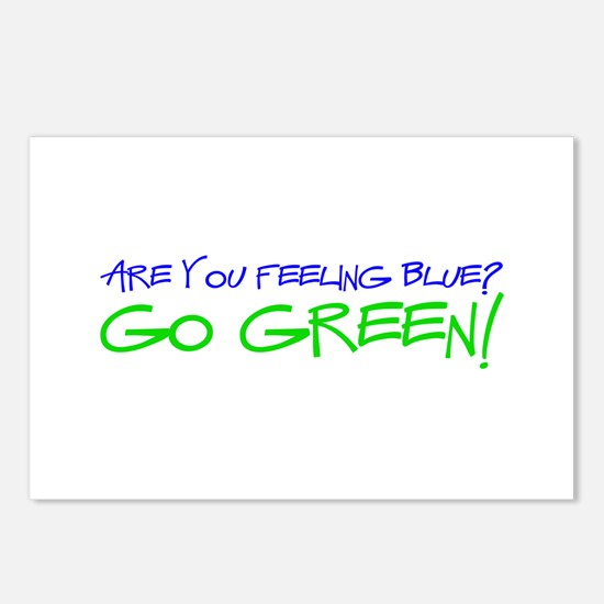 Feeling Blue? Go Green! Postcards (Package of 8)