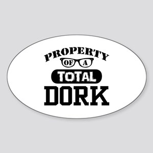 Total Dork Oval Sticker