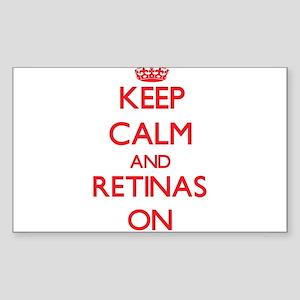 Keep Calm and Retinas ON Sticker
