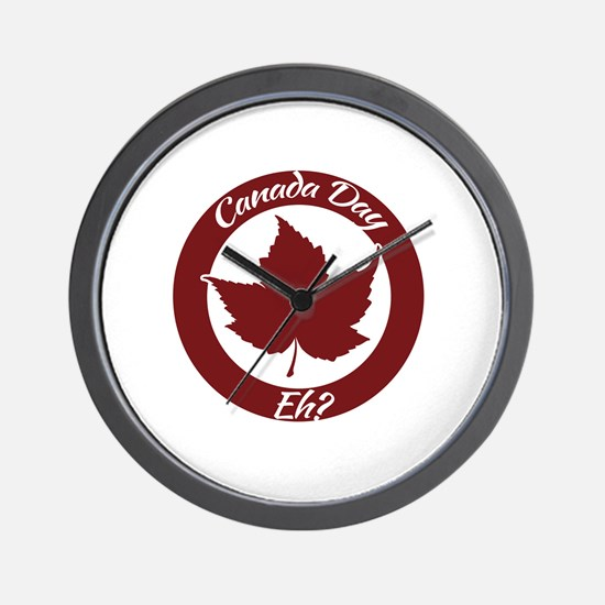 Eh Canada Day Wall Clock