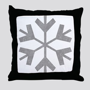 Vintage Snowflake Throw Pillow