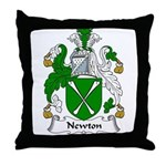 Newton Family Crest Throw Pillow