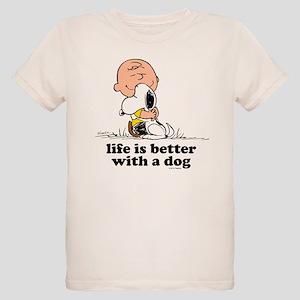 Charlie Brown: Life is Better Organic Kids T-Shirt