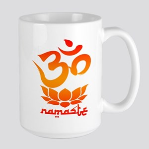 Namaste Symbol (Warm Red Version) Mugs
