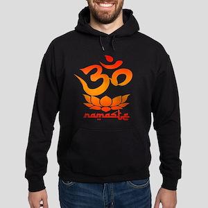 Namaste Symbol (Warm Red Version) Hoodie