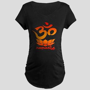 Namaste Symbol (Warm Red Version) Maternity T-Shir