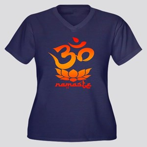 Namaste Symbol (Warm Red Version) Plus Size T-Shir