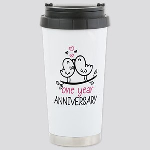 1st Anniversary Cute Co Stainless Steel Travel Mug