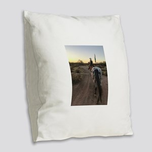 Spotted Sunset3 Burlap Throw Pillow