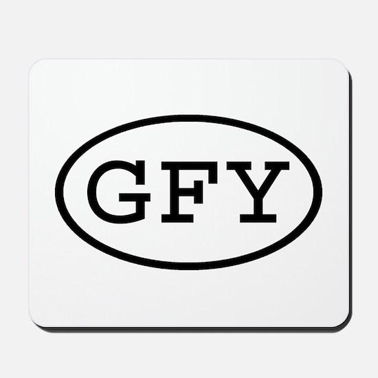 GFY Oval Mousepad