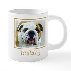 Bulldog 20 oz Ceramic Mega Mug