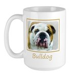 Bulldog 15 oz Ceramic Large Mug