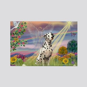 Mona Lisa (new) & Dalmatian Rectangle Magnet
