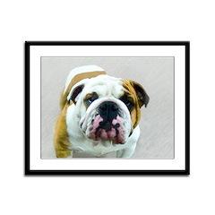 Bulldog Framed Panel Print