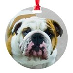 Bulldog Round Ornament