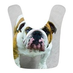 Bulldog Polyester Baby Bib