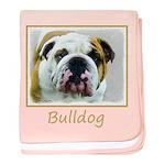 Bulldog baby blanket