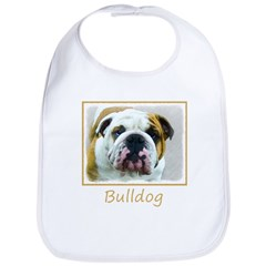Bulldog Cotton Baby Bib