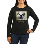 Bulldog Women's Long Sleeve Dark T-Shirt