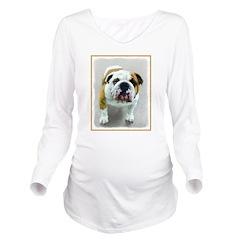 Bulldog Long Sleeve Maternity T-Shirt