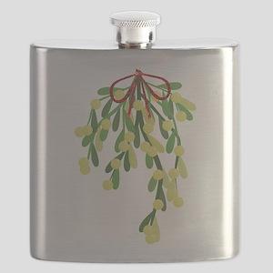 red xmas mistletoe Flask