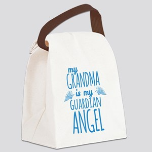 My Grandma is my Guardian Angel Canvas Lunch Bag