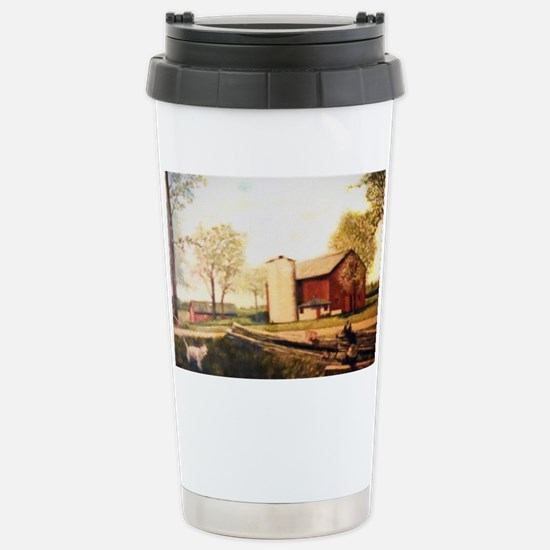 Barn With Painting Stainless Steel Travel Mug