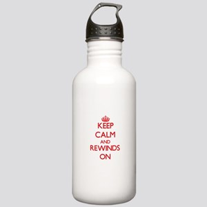 Keep Calm and Rewinds Stainless Water Bottle 1.0L