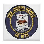 USS JOSEPH HEWES Tile Coaster