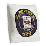 USS JOSEPH HEWES Burlap Throw Pillow