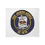 USS JOSEPH HEWES Throw Blanket