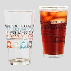 Modern Family Denim Vest Drinking Glass
