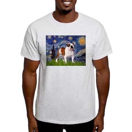 Starry Night English Bulldog Light T-Shirt