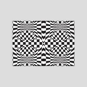 Op Art Design 5'x7'Area Rug
