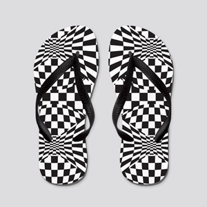 Op Art Design Flip Flops
