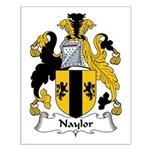 Naylor Family Crest Small Poster