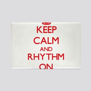 Keep Calm and Rhythm ON Magnets