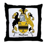 Nathan Family Crest Throw Pillow