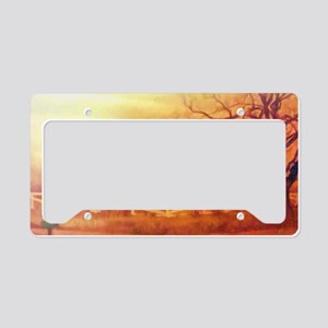 Midwest Barn Painting License Plate Holder
