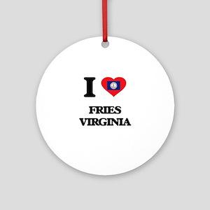 I love Fries Virginia Ornament (Round)