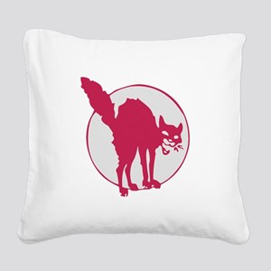 Anarchist Pussy Square Canvas Pillow
