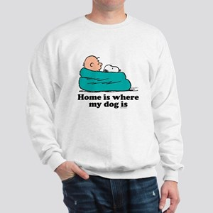 Charlie Brown: Home is Where My Dog Is Sweatshirt