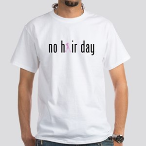 No Hair Day (pink Ribbon) T-Shirt