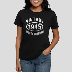 Vintage 1945 Birthday Women's Dark T-Shirt