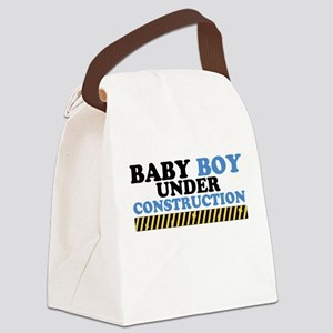 Baby Boy Under Construction Canvas Lunch Bag