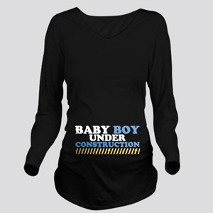 Baby Boy Under Construction Long Sleeve Maternity