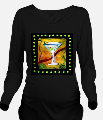 Funny Humorus Long Sleeve Maternity T-Shirt