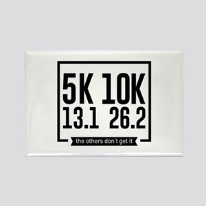 5K 10K 13.1 25.2 Runners Running Marathon Magnets